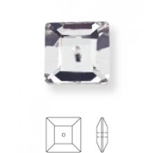 Square Aufnähstrass 1 Loch 14mm Crystal F