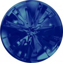 Sea Urchin Round Stone teilweise mattiert 14mm Crystal Bermuda Blue F