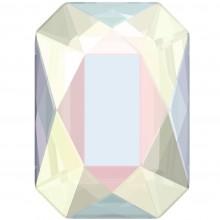 Emerald Cut Hotfix Strass 14x10mm Crystal AB HF