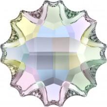 Jelly Fish Strassstein teilweise mattiert 14mm Crystal AB F