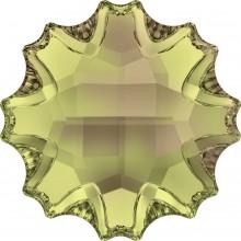 Jelly Fish Strassstein teilweise mattiert 14mm Crystal Luminous Green F
