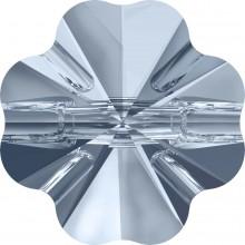 Clover Crystal Button 14mm Crystal Blue Shade