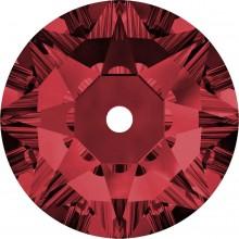 Xirius Lochrose Strassstein zum aufnähen 1 Loch 3mm Scarlet F