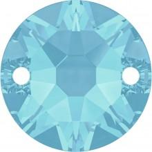 Xirius Aufnähstein 2 Loch 12mm Aquamarine F