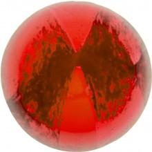 Glas Cabochon Rund 6mm red white marbled