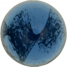 Glas Cabochon Rund 6mm blue white marbled