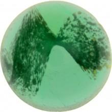 Glas Cabochon Rund 16mm green white marbled