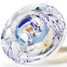 Maxima Button 2 Loch 12mm Crystal AB F
