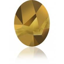 Kaputt Oval Fancy Stone teilweise mattiert 29x22.5mm Crystal Dorado F