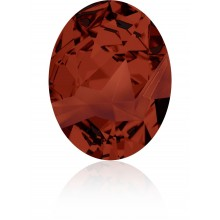 Kaputt Oval Fancy Stone teilweise mattiert 29x22.5mm Crystal Red Magma F