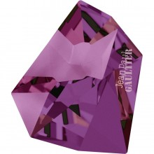 Kaputt Fancy Stone teilweise mattiert mit Gravur 'Jean Paul Gaultier' 38x33mm Crystal Volcano F