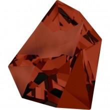 Kaputt Fancy Stone teilweise mattiert 38x33mm Crystal Red Magma F