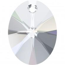 Xilion Oval Anhänger 12mm Crystal AB