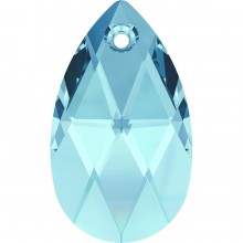 Pear-shaped Anhänger 22mm Aquamarine