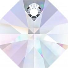 Octagon Anhänger 12mm Crystal AB