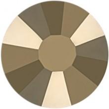 Rose Strass Hotfix ss6 Crystal Metallic Light Gold HF