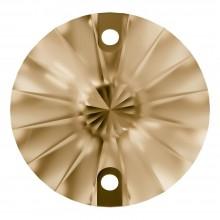 Rivoli Aufnähstein flach 2 Loch 10mm Crystal Golden Shadow F
