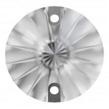 Rivoli Aufnähstein flach 2 Loch 10mm Crystal F