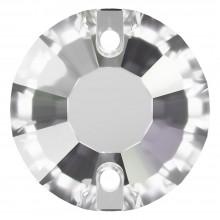 Rose Aufnähstrass flach 2 Loch 12mm Crystal Transparent UF