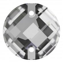 Schachbrett Aufnähstein flach 2 Loch 14mm Crystal F