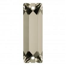 Cosmic Baguette Aufnähstein 2 Loch 18x6mm Crystal Satin F