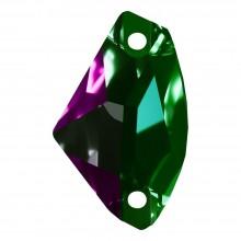 Galactic Aufnähstein flach 2 Loch 19x12mm Emerald F