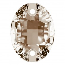 Oval Aufnähstein flach 2 Loch 24x17mm Light Colorado Topaz F
