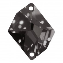 Cosmic Aufnähstein flach 2 Loch 27x21mm Black Diamond F