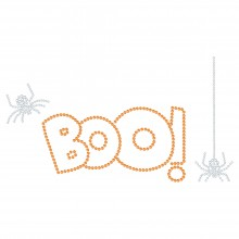 "Halloween Hotfix Strassmotiv ""Boo"" 226x124mm"