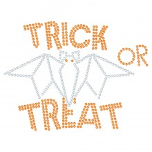 "Halloween Hotfix Strassmotiv ""Trick or Treat"" 168x127mm"