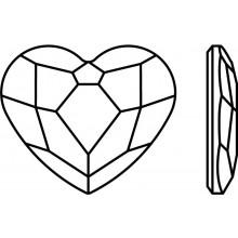 Heart Hotfix Strass 10mm Crystal AB HF