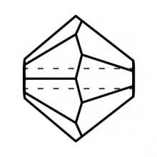 Bicone Glasschliffperle 4mm Crystal Golden Flare 2x