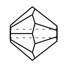 Bicone Glasschliffperle 4mm Black Diamond