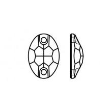 Oval 301 Aufnähstein 2 Loch 24x17mm Crystal AB F