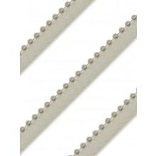 Perlborte Rund 4mm wachsweiß mit Band