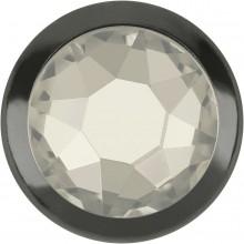 Xirius Rose Framed Hotfix Strass ss16 Crystal Silver Shade HF (HF001SSHA) Gun Metal Ring (GM)