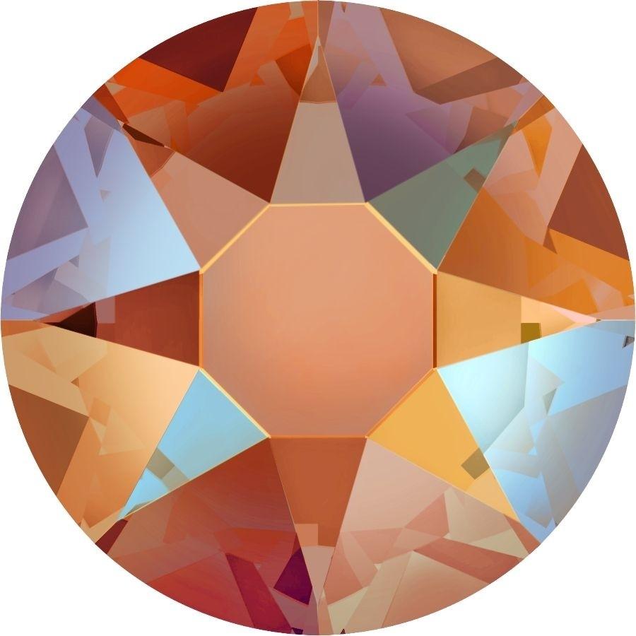 Xirius Rose Hotfix Strass ss34 Tangerine Shimmer HF