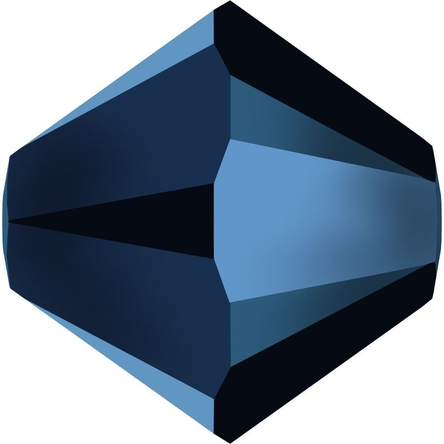 Xilion Perle 4mm Crystal Metallic Blue 2x