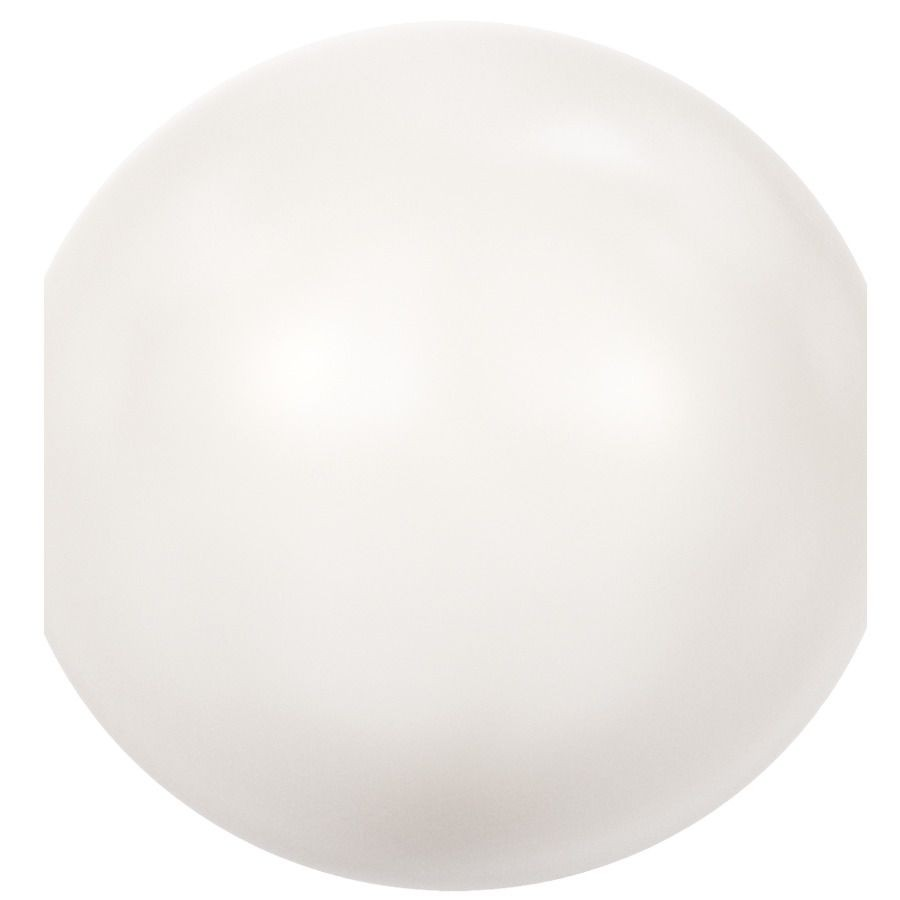 Crystal Round Pearl 4mm Crystal White Pearl