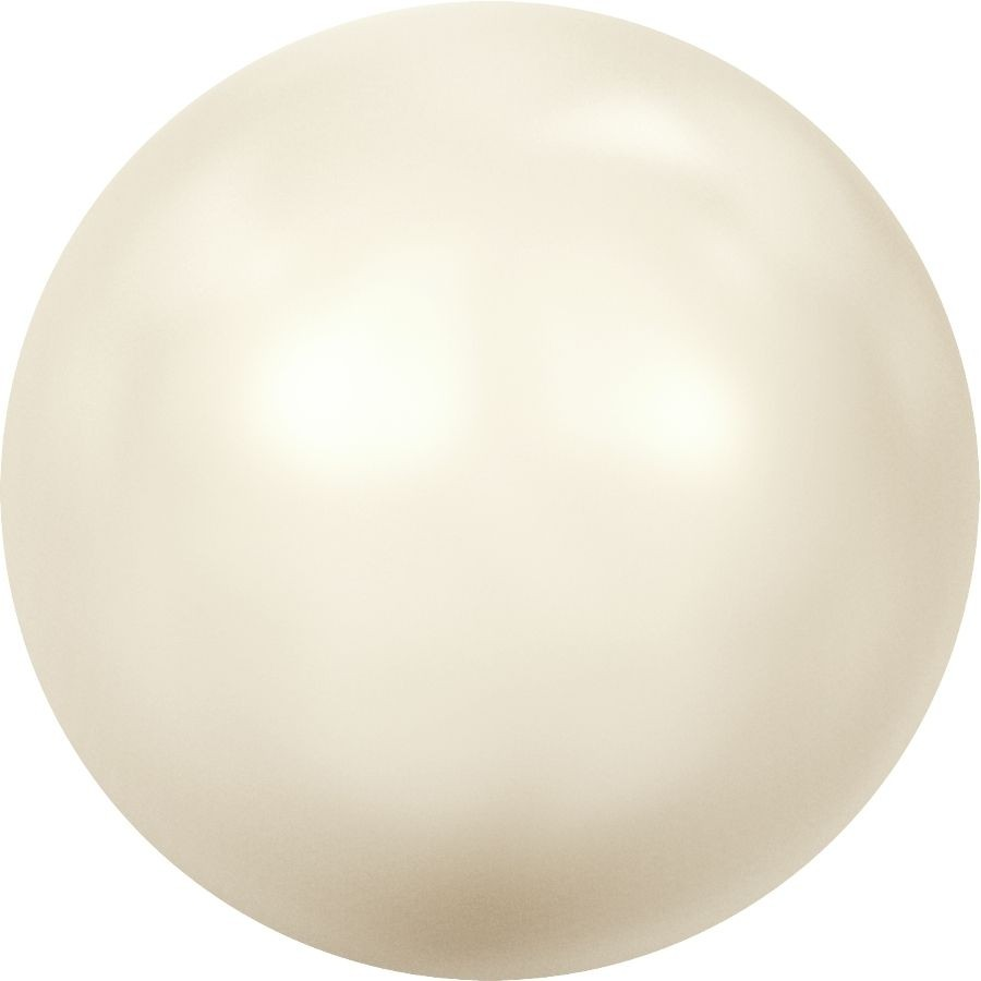 Crystal Pearls 5817 1/2drill Cabochon Pear 8mm Crystal Creamrose Light Pearl