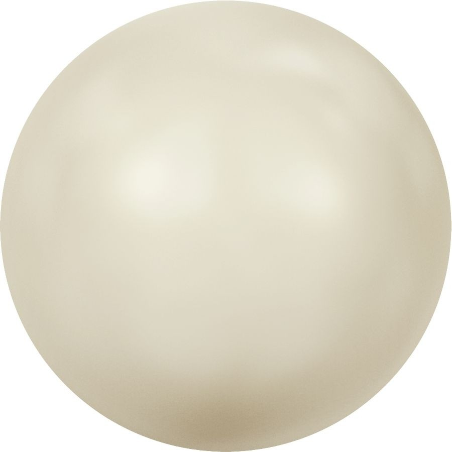 Crystal Pearls 5817 1/2drill Cabochon Pear 8mm Crystal Cream Pearl