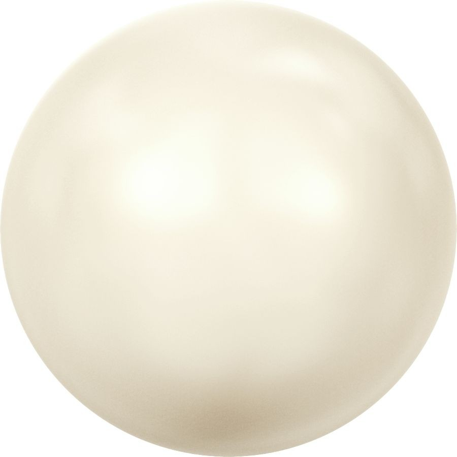 Crystal Pearls 5818 1/2drilled Round Pearl 8mm Crystal Creamrose Light Pearl