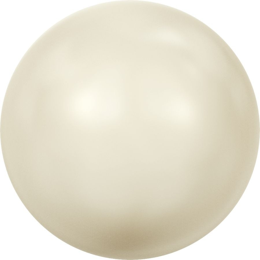 Crystal Pearls 5818 1/2drilled Round Pearl 8mm Crystal Cream Pearl