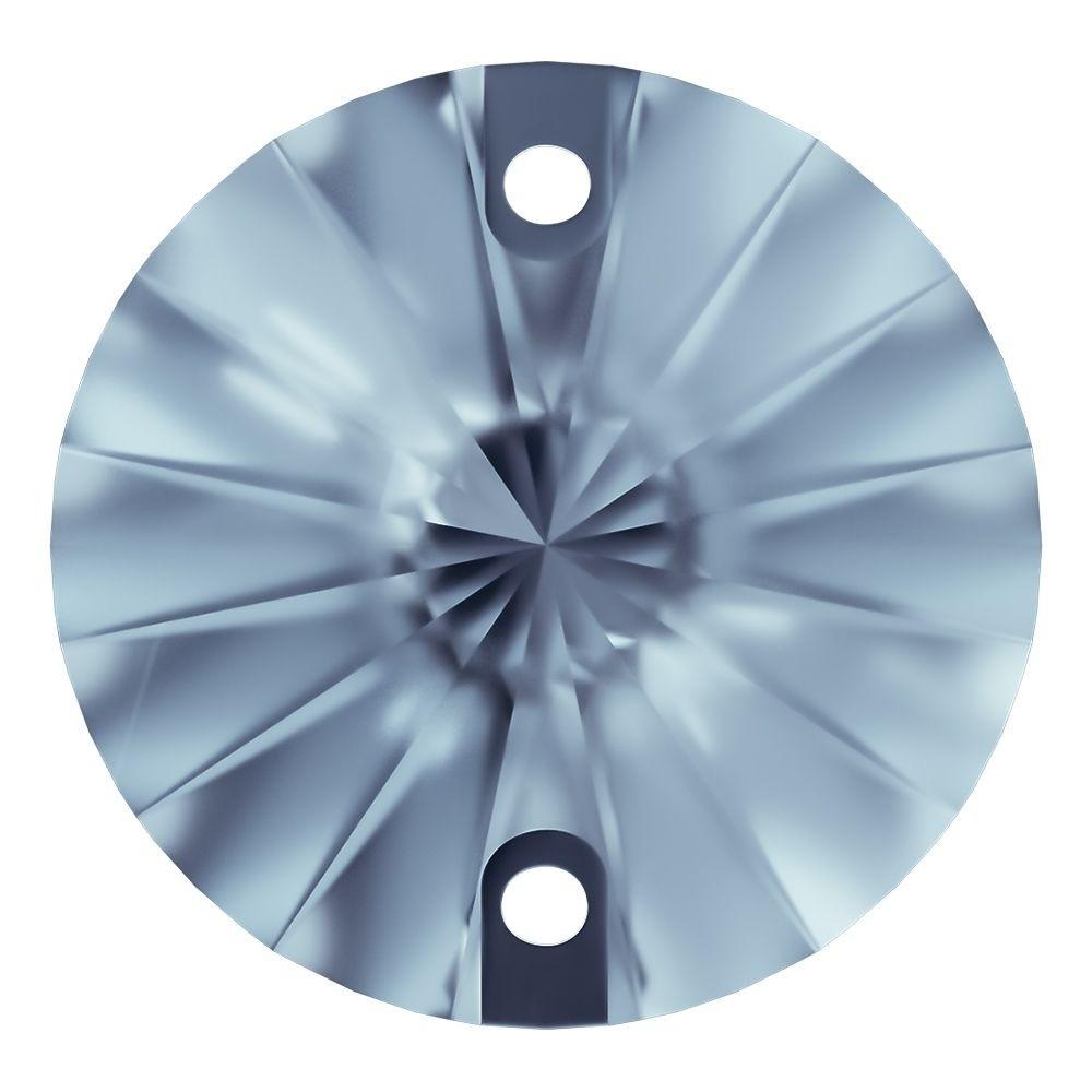 Rivoli Aufnähstein flach 2 Loch 10mm Light Sapphire F