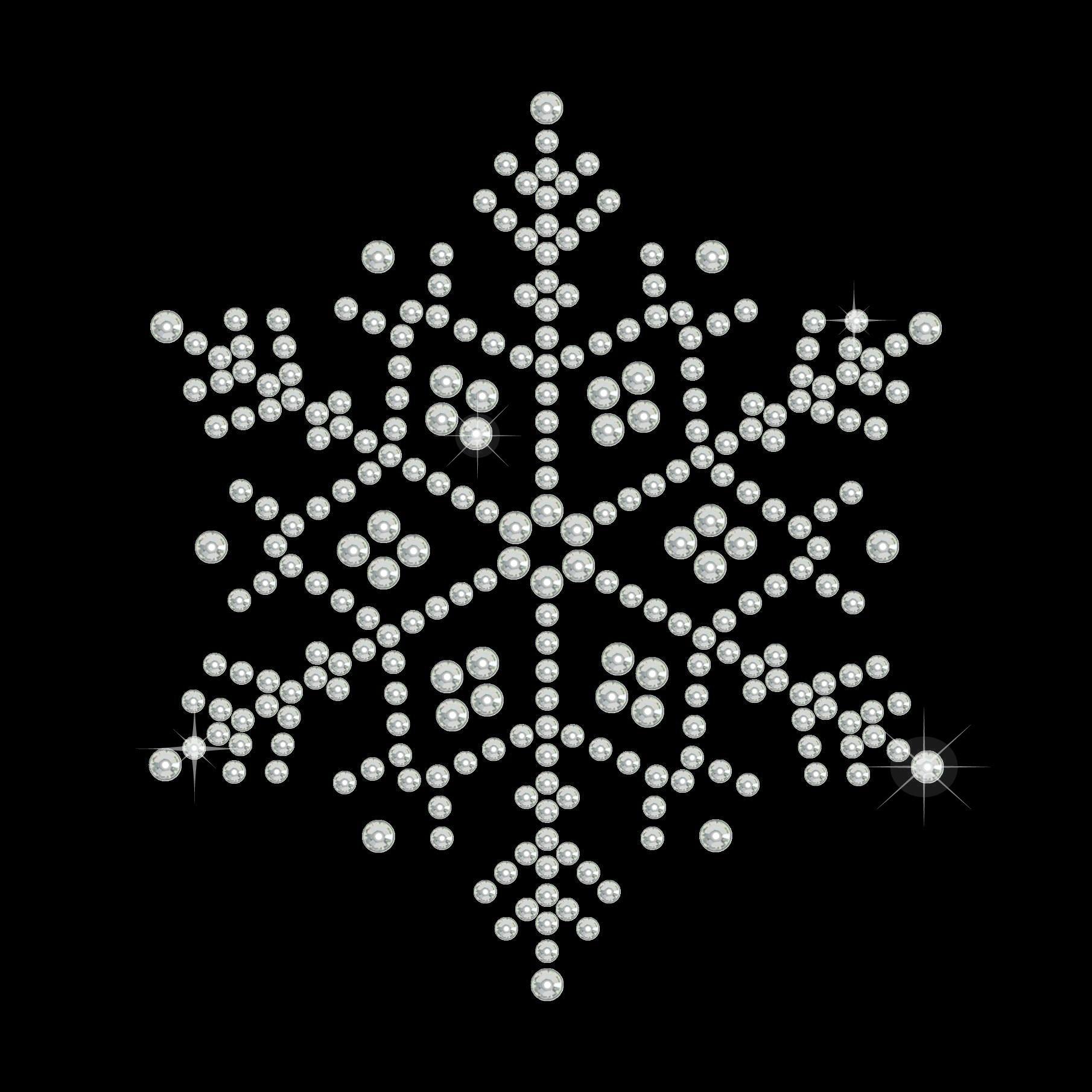 """Hotfix Strassmotiv """"Snowflake"""" 76x66mm"""