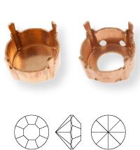 Chaton Kessel ss47/ss48, Sew-on 4 holes/2 each side, open, Gun Metal