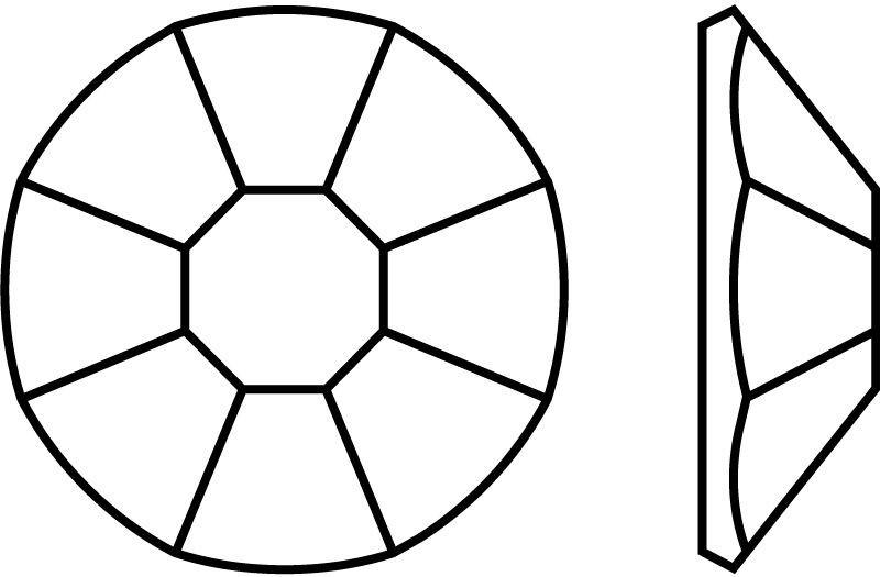 Rose Hotfix 8 Facetten maschinengeschliffen ss20 Jonquil HF