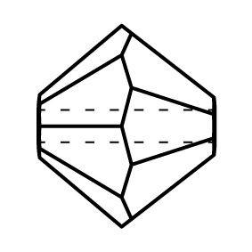 Bicone Glasschliffperle 4mm Amethyst AB