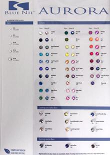 BLUE NIL PREMIUM Rose Hotfix Color Chart